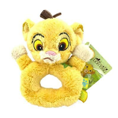 Disney Simba Baby Soft Plush Rattle Lion King Posh Paws