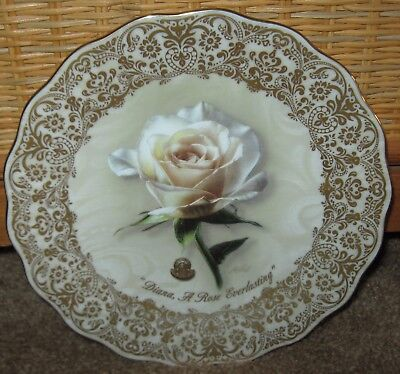 "Princess Diana "" A Rose Everlasting"" Collectors plate with Elton John Music Box"