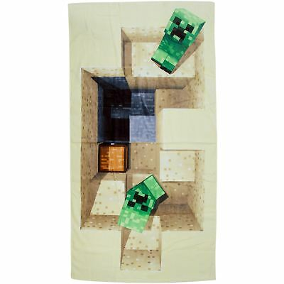 OFFICIAL MINECRAFT DEFEAT BEACH BATH TOWEL COTTON GIRLS BOYS 140cm x 70cm
