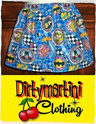 Baby Girls DC Wonderwoman skirt age 1-3 GIRL POWER Batgirl super hero marvel 2