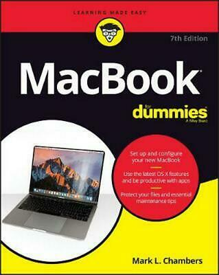 Macbook for Dummies, 7th Edition by Chambers Paperback Book Free Shipping!