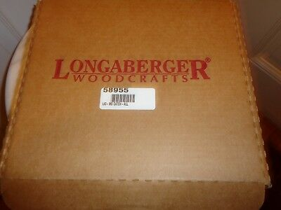Longaberger  New Wood Lid Medium Catch All New In Box