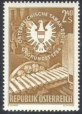 Austria 1959 Tobacco Industry/Machinery/Commerce/Business/Eagle/Arms 1v (n42163)