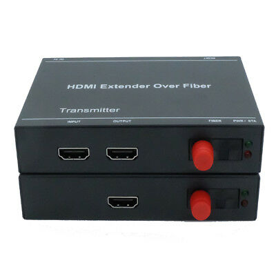 HDMI 1920x1080 60Hz To FC Optic Fiber Converter 20km Media Extender Single Mode