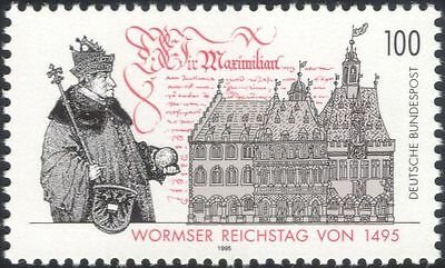 Germany 1995 Diet of Worms/Friedreich III/Manuscript/Buildings/Luther 1v n45375