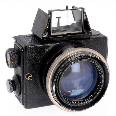 Zeiss Ikon Collectible Ernemann Ermanox 4.5x6cm Plate Camera w 8.5cm F1.8 Lens