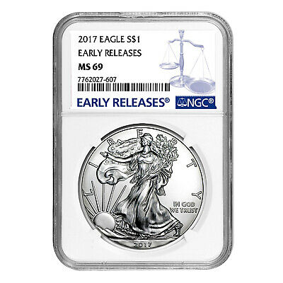 2017 $1 American Silver Eagle MS69 NGC - Early Releases