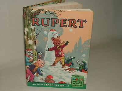 Rupert Bear Vintage Silver Age 1962 Annual With Magic Paintings