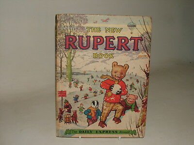 Rupert Annual Vintage 1951 Golden Age Daily Express Vg Not Price Clipped