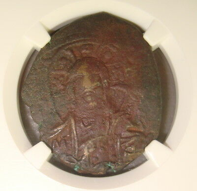 AD 1028-1041 Ancient Byzantine Empire AE Follis NGC Choice VF 3/5 3/5