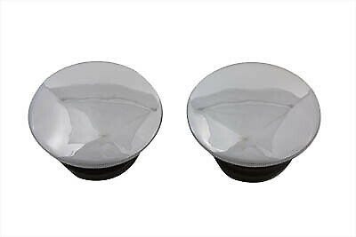 Low Profile Chrome Gas Cap Set Vented and Non-Vented fits Harley Davidson,V-T...