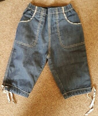 Genuine Burberry Baby Girls Jeans Age 6 Months