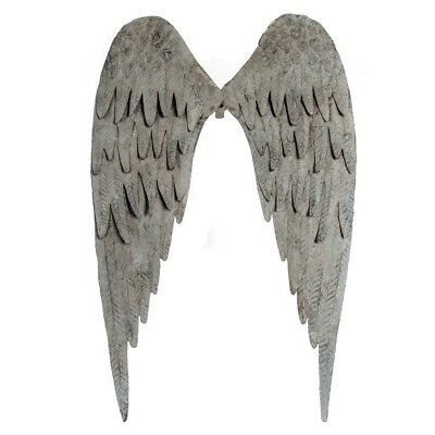 Metal Angel Wings Distressed Vintage Wall Decor Shabby Chic