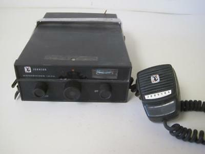 Vintage Johnson Messenger 123A Cb Radio Transceiver With Mic Untested For Parts