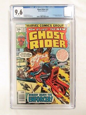 Ghost Rider #22 (1977) 1st Enforcer CGC 9.6 White Pages Marvel Comics CM229