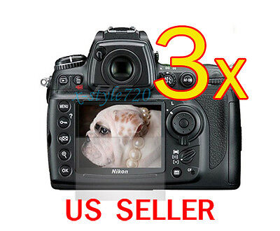 3x Nikon DSLR D7000 Clear LCD Screen Protector Guard Film
