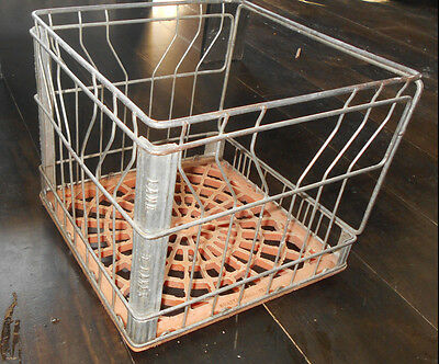 Old Vintage Land O Lakes Wire Metal Milk Crate Basket Cumberland Open Faced Wow