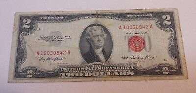 Two Dollar 1953 United  States  Note..Circulated