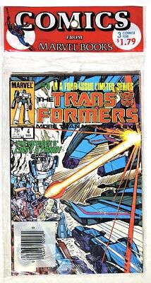 S780. THE TRANSFORMERS #4-6 by Marvel Comics (1985) SEALED ORIGINAL 3-PACK ~