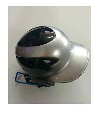 MVP Softball Baseball ADJUSTABLE Two-Tone Batting Helmet Black SILVER NEW