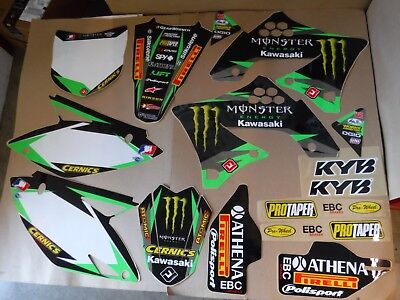 Team Kawasaki Graphics  And Number Plates  Kx450F Kxf450  2009 2010 2011