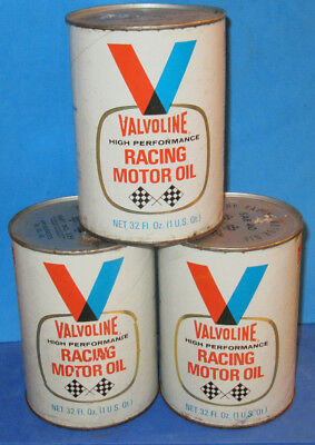 Vintage Valvoline Racing SAE 40 Motor Oil (3 cans) Full
