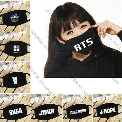 KPOP BTS Wings Mouth Mask Merchandise Face Muffle Jung Kook J-Hope Bangtan Boys