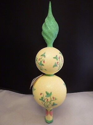 "PATRICIA BREEN ORNAMENT ""STRAWBERRY FINIAL  tree topper  with TAG"