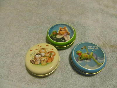 Lot Three Vintage Hallmark Tins Kermit, Miss Piggy And Animals