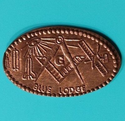 BLUE LODGE Masonic Symbols Tools All Seeing Eye Freemason Elongated Copper Penny