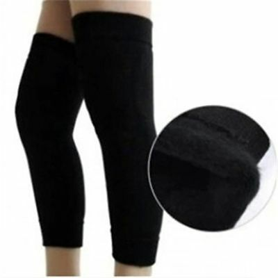 Womens Mens Warm Cashmere Wool Knee Warmers Leg Thigh High Socks Pad Legging