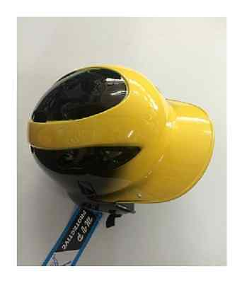 MVP Softball Baseball ADJUSTABLE Two-Tone Batting Helmet Black YELLOW NEW