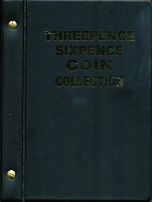 VST Australian Threepence & Sixpence Coin Album 1911 to 1964 - Black Cover