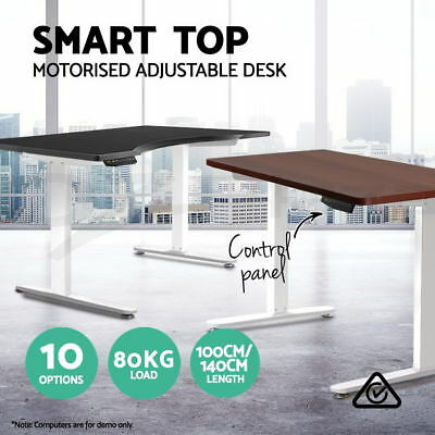 Motorised Electric Height Adjustable Standing Desk Sit Stand Computer Table WH