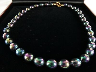Fine Womens Lustre Opalescent Pearl shaped Glass beads to Gilt Parrot Clasp