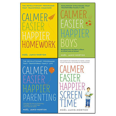 Calmer, Easier, Happier Collection By  Noël Janis-Norton 4 Books Set New Pack