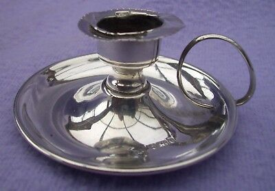 Small Solid Silver Chamberstick - Birmingham 1904 -  For Repair