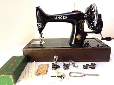 Singer 99k Vintage Hand Crank Sewing Machine ~ Good Working Order