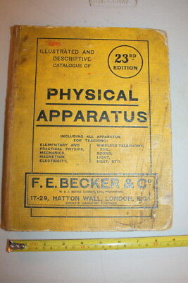 Scientific Instrument Catalogue 1924 Becker Physical Apparatus Teaching Science