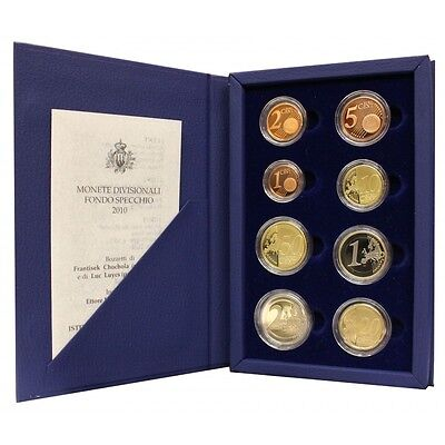 2010 San Marino Divisional Coins Proof Packaging Mf26770