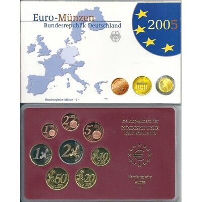 2005 Germany Divisional Proof Of 5 Ticks 8 Coins Euro Mf8796