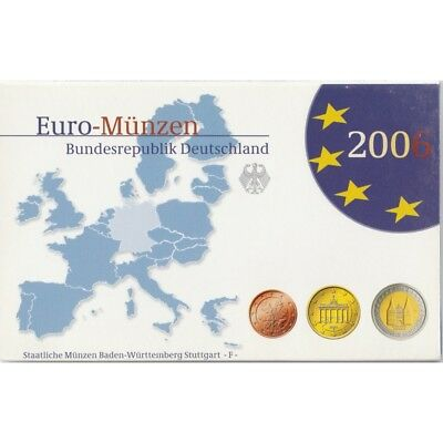 2006 Germany Germany Coin Set Of 5 Ticks Euro Fdc Proof Mf8791
