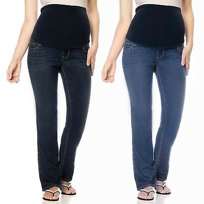 Maternity High Rise Bootcut Jeans Pregnancy Stretch Pants Full Panel Cute & Sexy