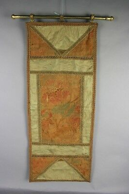 20th C. Chinese Embroidery: Flowers