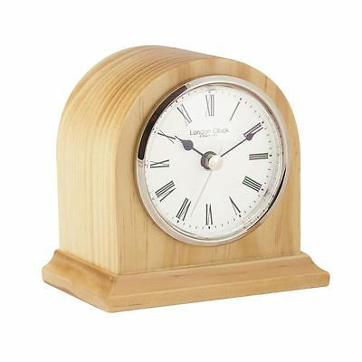 London Clock Co 12cm Licht Holz Bogen TOP Kaminsims Uhr