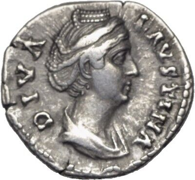DIONYSOS Faustina Major AR-Denar Rom Ceres #SD 10440