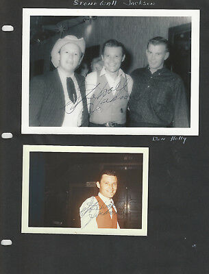 Stonewall Jackson Don Holly + More! 8 Photos Several are SIGNED - Grand Ole Opry