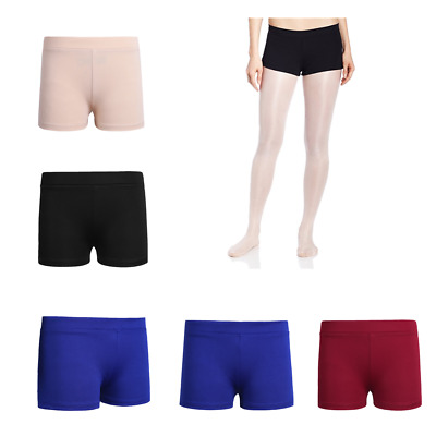 Girl Low Rise Pants Activewear Dance Shorts Yoga Athletic Sports Gym Teens Cheer