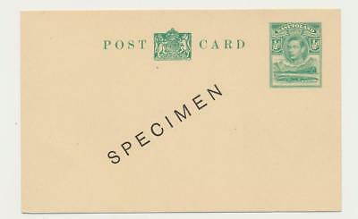 "BASUTOLAND 1938 GV, ½d ""SPECIMEN"" CARD, VF UNUSED H&g#3 (SEE BELOW)"