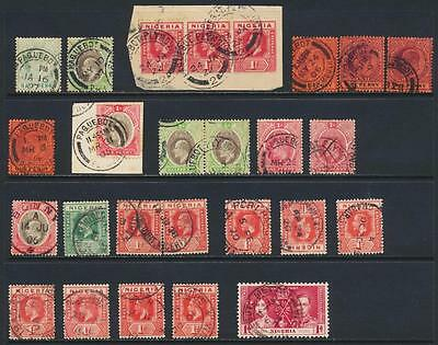 Nigeria 1904-37 Postmark Group(26) Inc Paquebots, Bonny, Harcourt Etc (See Below